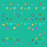 Vector star background design. Vector ornament on green background stock illustration