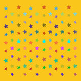 Vector star background design. Vector ornament on yellow background royalty free illustration