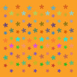 Vector star background design. Vector ornament on yellow background Royalty Free Stock Images