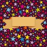 Vector star card cover design Royalty Free Stock Photos