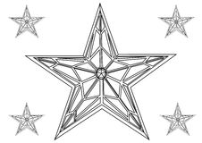 Vector star Stock Photography