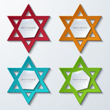Vector star of David banners background. Royalty Free Stock Images