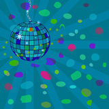 Vector star disco sphere Royalty Free Stock Photography