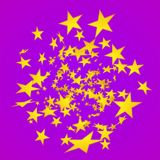 Vector star explosion. Cartoon illustration. Depth of field. Vector star explosion. Cartoon illustration. For web Stock Images