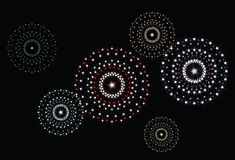 Vector star fireworks 2 Stock Photos