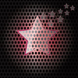 Vector Star Glass with red frame on metal background. Vector modern Star Glass with red frame on metal background Royalty Free Stock Image