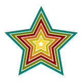 Vector Star icons. Star icons. Vector illustration on white background Stock Illustration