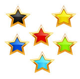 Vector star icons on white background Royalty Free Stock Images