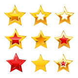 Vector star icons on white background Stock Images