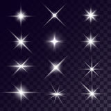 Vector star lighting effects Royalty Free Stock Image