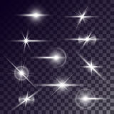 Vector star lighting effects Stock Photo