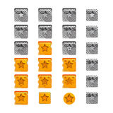 Vector star pack collection icons Royalty Free Stock Image