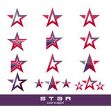 Vector star pack collection icons Royalty Free Stock Photo