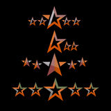 Vector star pack collection icons Stock Image