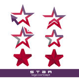 Vector star pack collection icons Royalty Free Stock Images