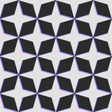 Vector star pattern with distortion color glitch. Dark backgroun. Vector star pattern with distortion color glitch. Gray stars on dark background Stock Image