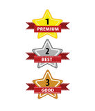 Vector of Star Quality label for business label Royalty Free Stock Image