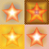 Vector star with rays Stock Photo