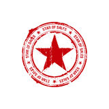 Vector star of sales stamp Stock Images
