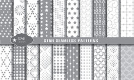 Vector star seamless pattern background. Pattern swatches included for illustrator user, pattern swatches included in file, for your convenient use Stock Photography