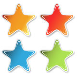 Vector star stickers Royalty Free Stock Photo