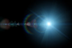 Vector star, sun with lens flare Royalty Free Stock Photography