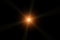 Vector star, sun with lens flare Stock Photo