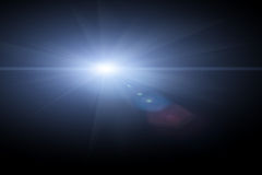Vector star, sun with lens flare Stock Images