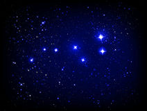 Vector starry sky with Ursa Major Stock Photo