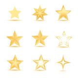 Vector stars Royalty Free Stock Images