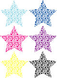 Vector stars Stock Images