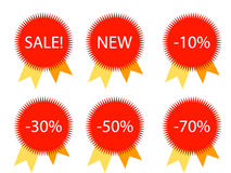 Vector Badges Royalty Free Stock Photo