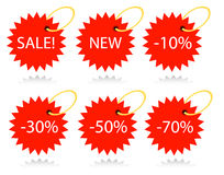 Vector tags Stock Image