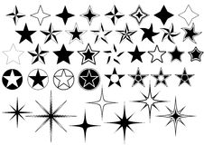 Vector Stars Collection Royalty Free Stock Photography