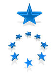 Vector stars with copy-space for your text Royalty Free Stock Photo