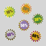 Vector stars for discount prices Stock Photos
