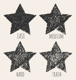 Vector stars in a grunge style. Vector illustration Stock Illustration
