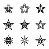 Vector Stars icon set Stock Photography