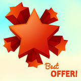 Vector stars isolated, best offer Stock Images