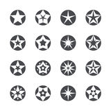 Vector stars set icons Royalty Free Stock Photography