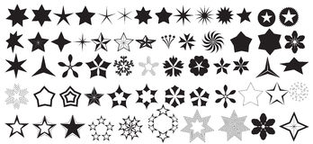 Vector Stars Shapes Stock Photos