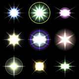 Vector Stars and sparkles - collection of design Royalty Free Stock Images