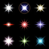 Vector Stars and sparkles - collection of design elements 3 Stock Image