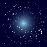 Vector stars spiral galaxy. Vector space view of spiral stars galaxy core stock illustration