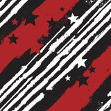Vector Stars and Stripes seamless pattern. For print design or web background Stock Photo