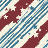 Vector Stars and Stripes seamless pattern. For print design or web background Stock Image