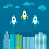 Vector start up concept in flat style Stock Photography