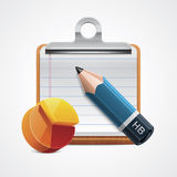 Vector starting analysis icon Stock Image