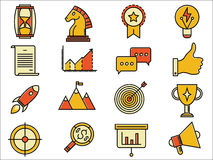 Vector startup business solution icons Royalty Free Stock Photo