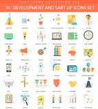 Vector startup and development color flat icon set. Elegant style design. Stock Images